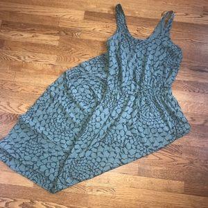 The North Face green print maxi drawstring dress L